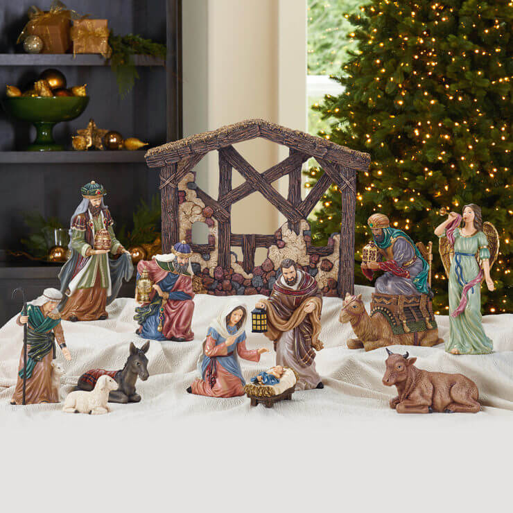 Nativity Scene Whimsical Christmas Decoration