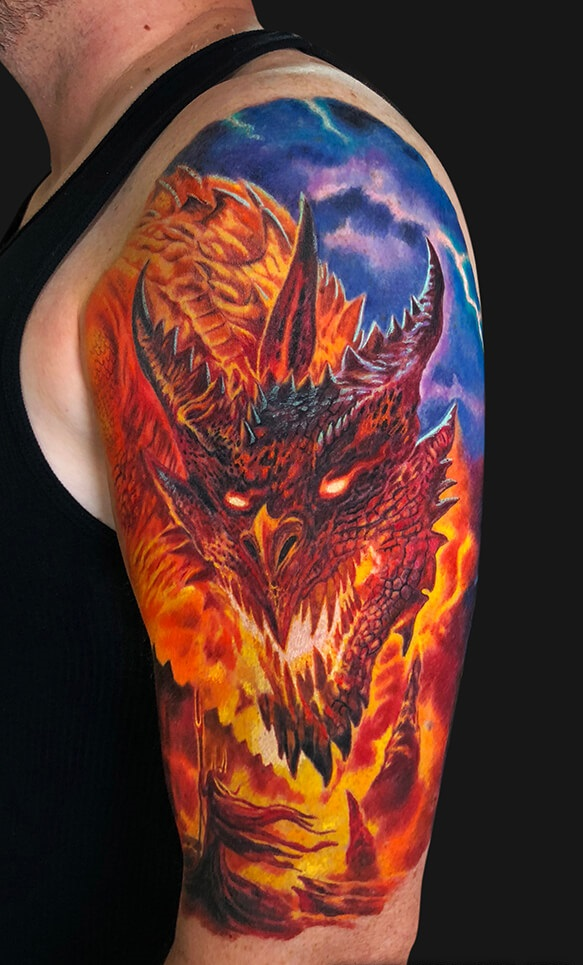 Fire Dragon Tattoo