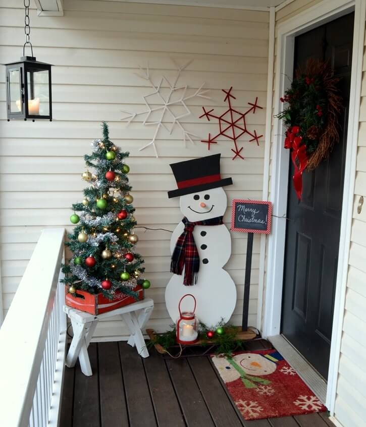 Balcony Snowman DIY Decoration