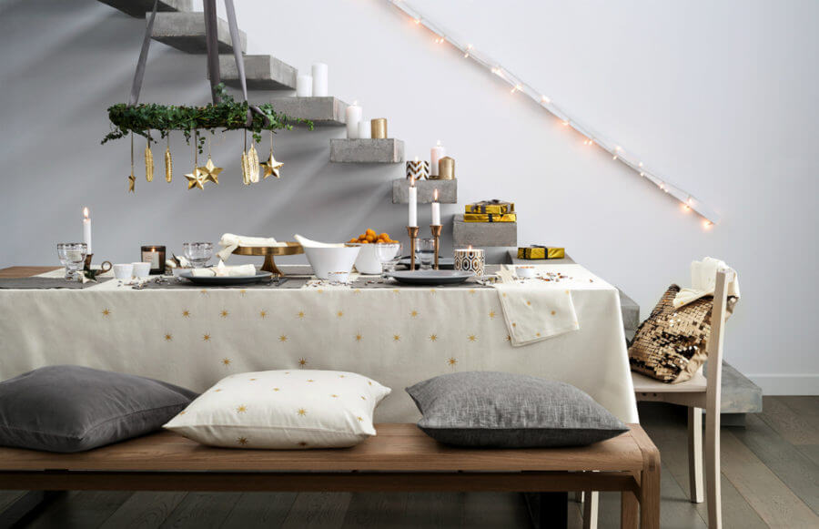 Christmas Tablescape Scandinavian Style