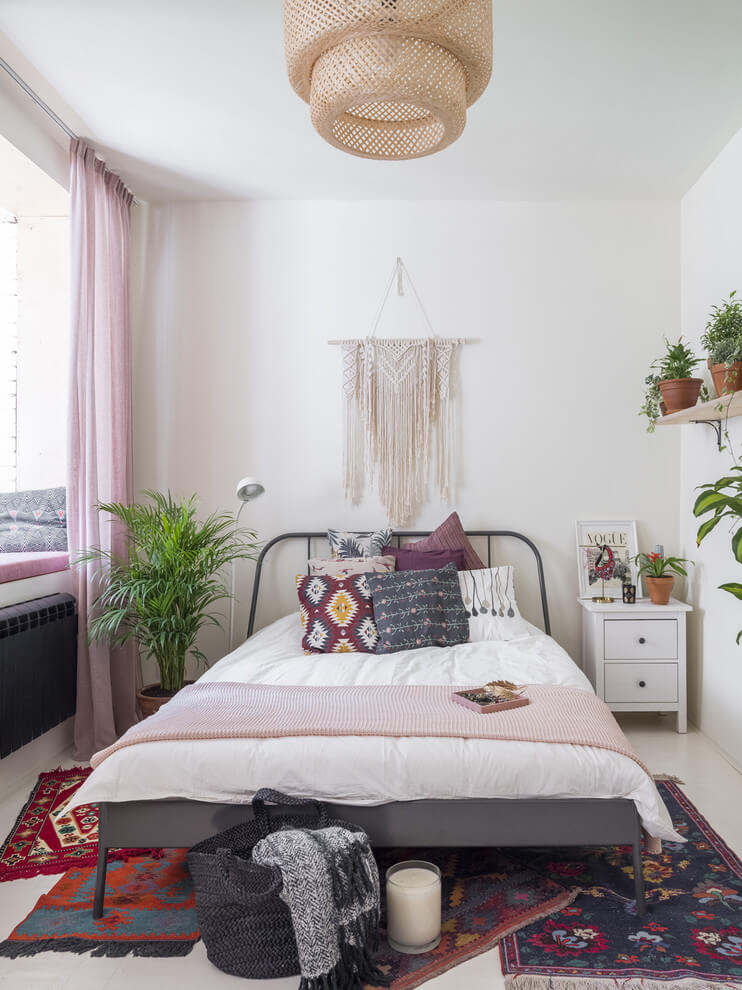 Eclectic Touches To Simple Bedroom