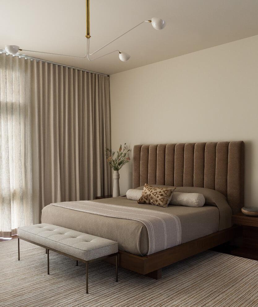 Elegant Brown Bedroom Design