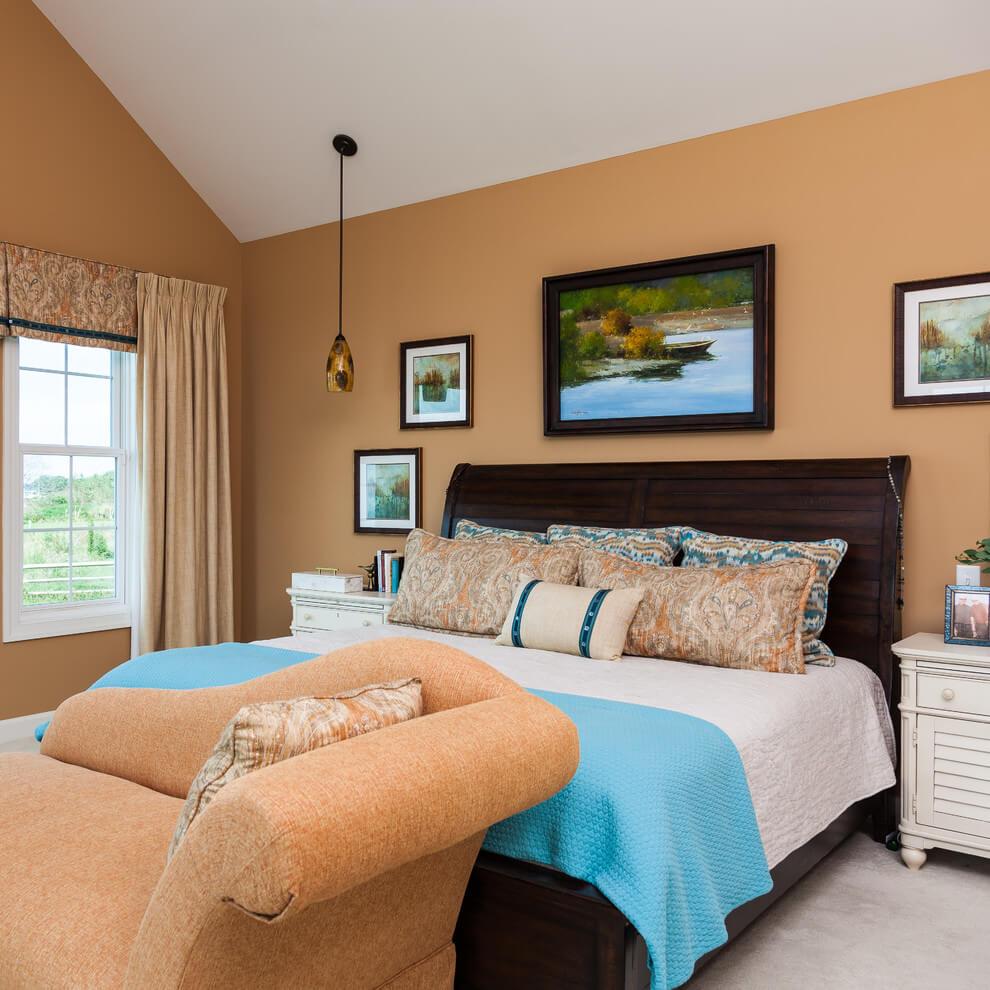 Peach Tones Beach Style Bedroom