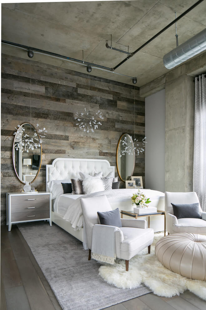Sophisticated Chic Industrial Bedroom