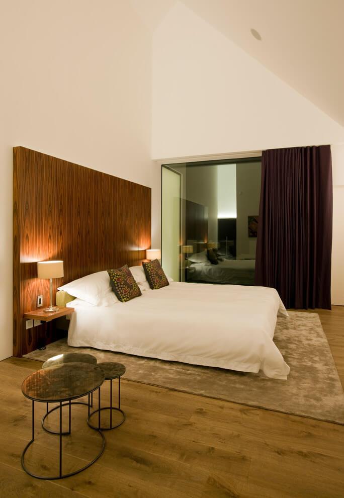 Wooden Headboard Simple Modern Bedroom