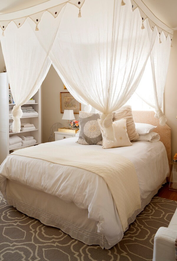 Bright White Moroccan Style Bedroom