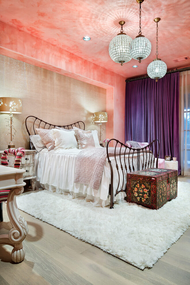 Shabby Chic Vibrant Moroccan Bedroom