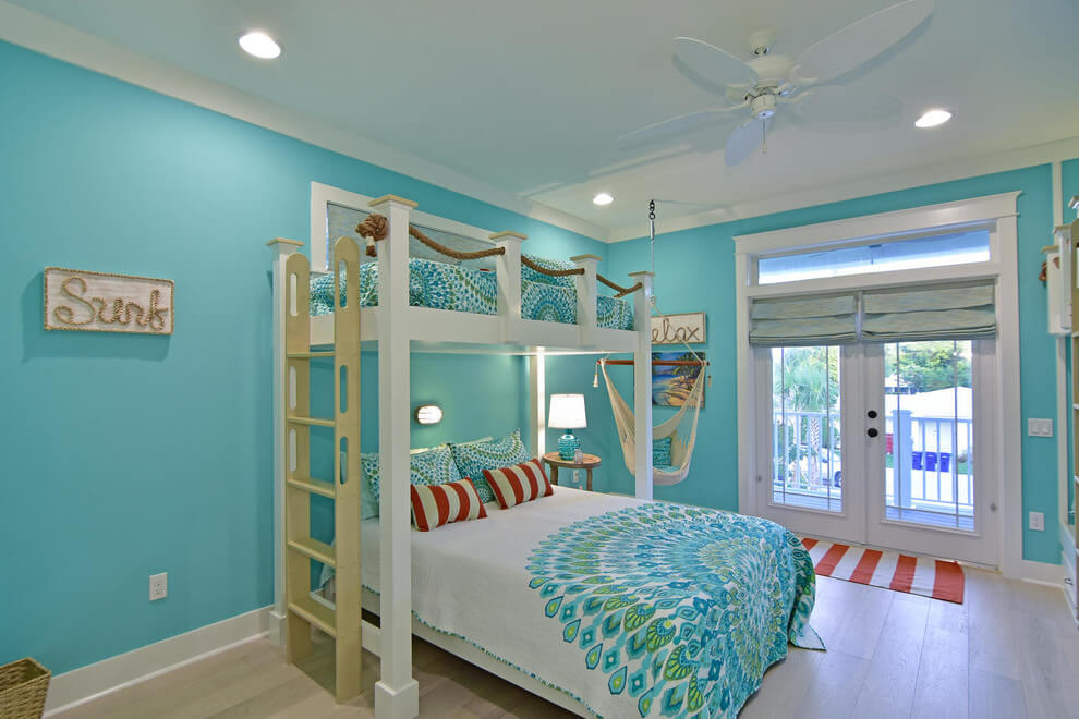 Kids Bedroom With Coastal Colors