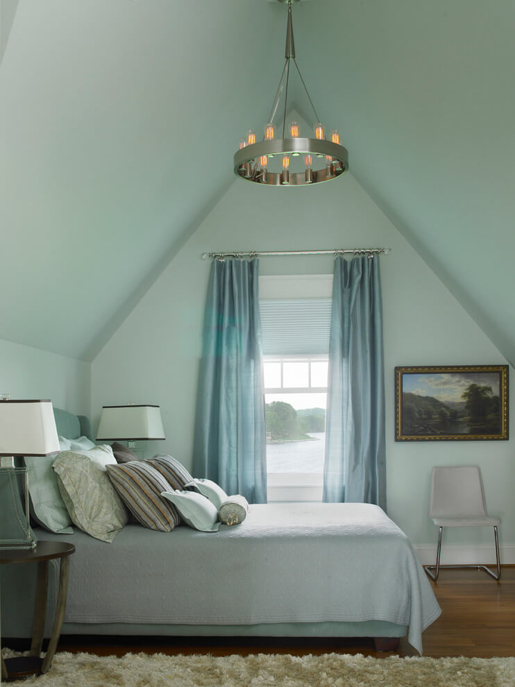 Pastel Shades In Turquoise Bedroom
