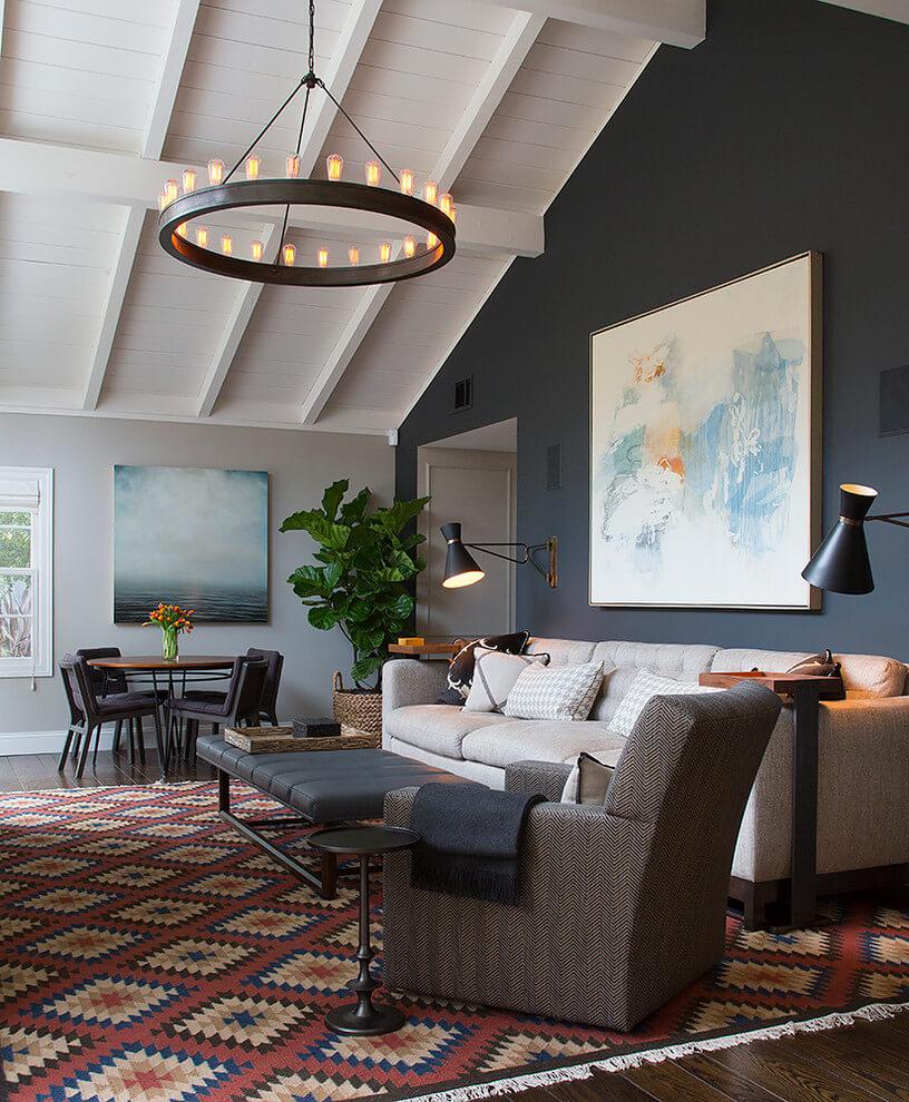 Understated Drama In Elegant Living Room