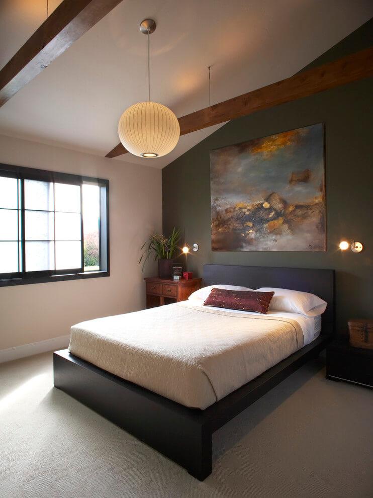 Attic Bedroom In Minimalist Design