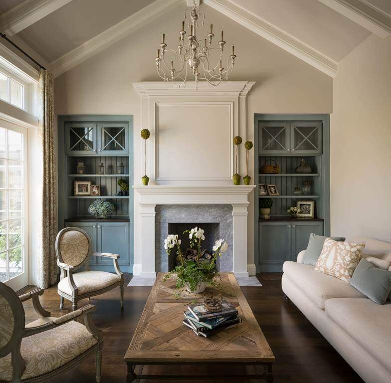 Beige and Wood Living Room
